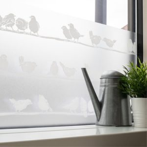 45cm x 1.5m dc fix FILIPPA premium static cling vinyl window privacy film (334-0020)