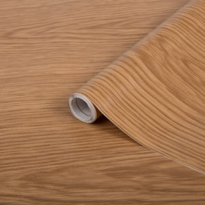 67.5cm x 1m up to 15m dc fix JAPANESE OAK sticky back plastic vinyl wrap film (200-8050)