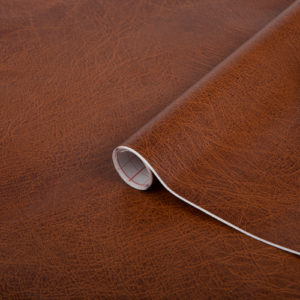 90cm x 1m up to 15m dc fix LEATHER EFFECT BROWN sticky back plastic vinyl wrap film (200-5451)