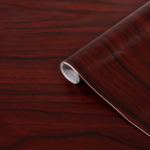 67.5cm x 1m up to 15m dc fix MAHOGANY sticky back plastic vinyl wrap film (200-8053)