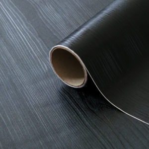 67.5cm x 1.5m dc fix QUADRO BLACK premium sticky back plastic vinyl wrap film (343-8301)