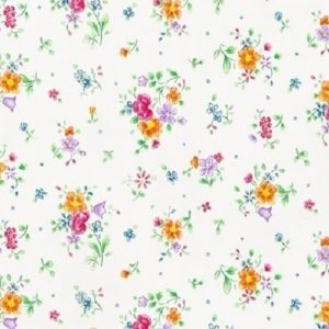 45cm x 2m dc fix FLOWERS WHITE sticky back plastic vinyl wrap film (346-0193)