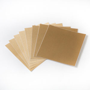 15cm x 15cm BRUSHED GOLD tile stickers for décor (CYWBSH5)