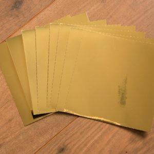 15cm x 15cm GLOSSY GOLD tile stickers for decor (CYW2GLD)