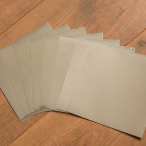 15cm x 15cm GLOSSY SILVER tile stickers for décor (CYW2SLV)