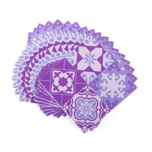 15cm x 15cm GLOSSY MORRIS PURPLE tile stickers for décor (CYW15FS500)