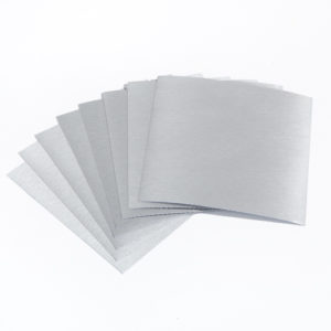 15cm x 15cm BRUSHED SILVER tile stickers for décor (CYW2BSL)