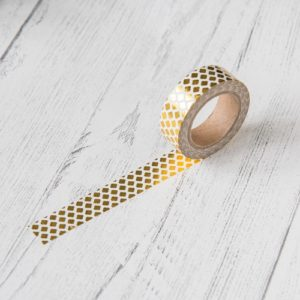 15mm x 10m GEOMETRIC GOLD washi tape for crafts & home décor (CYW0172)