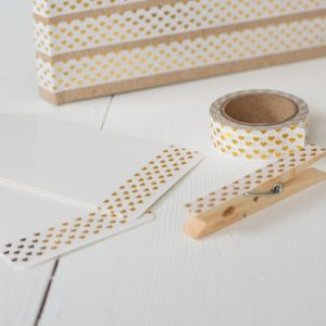 15mm x 10m HEARTS GOLD washi tape for crafts & home d?cor (CYW0170)