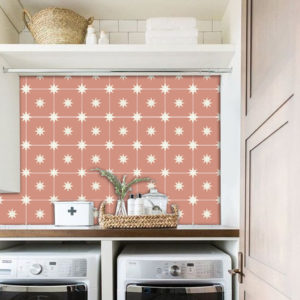 60cm x 120cm Quadrostyle STARRY NIGHT ROSE vinyl splashback panel (CYWS18M60 )