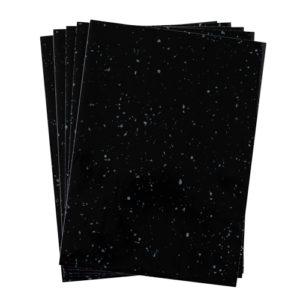A4 dc fix BLACK GRANITE QUARTZ self adhesive vinyl craft pack