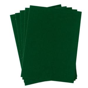 A4 dc fix FELT VELOUR GREEN self adhesive vinyl craft pack