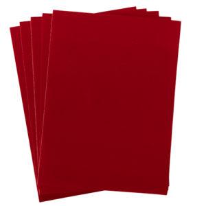 A4 dc fix FELT VELOUR RED self adhesive vinyl craft pack