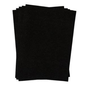 A4 dc fix GLITTER BLACK self adhesive vinyl craft pack