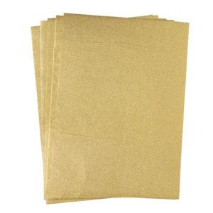 A4 dc fix GLITTER GOLD self adhesive vinyl craft pack