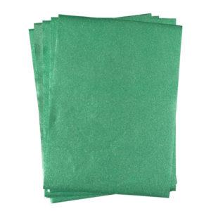 A4 dc fix GLITTER GREEN self adhesive vinyl craft pack