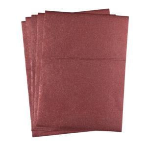 A4 dc fix GLITTER RED self adhesive vinyl craft pack