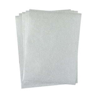 A4 dc fix GLITTER SILVER self adhesive vinyl craft pack