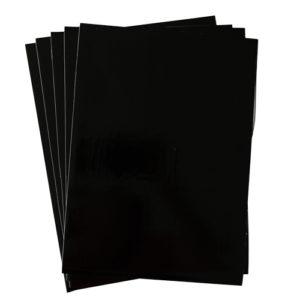 A4 dc fix GLOSSY BLACK self adhesive vinyl craft pack