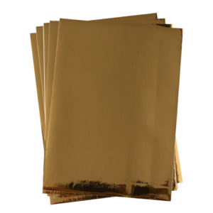 A4 dc fix GLOSSY GOLD self adhesive vinyl craft pack