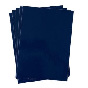 A4 dc fix GLOSSY NAVY BLUE self adhesive vinyl craft pack