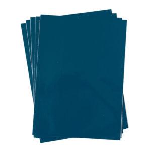 A4 dc fix GLOSSY PETROL BLUE self adhesive vinyl craft pack