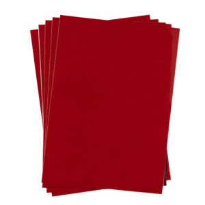 A4 dc fix GLOSSY RED self adhesive vinyl craft pack