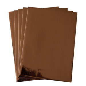 A4 dc fix GLOSSY ROSE GOLD self adhesive vinyl craft pack