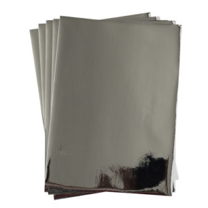 A4 dc fix GLOSSY SILVER self adhesive vinyl craft pack