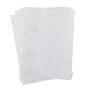 A4 dc fix GLOSSY TRANSPARENT self adhesive vinyl craft pack