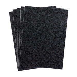 A4 dc fix GRANITE BLACK self adhesive vinyl craft pack