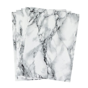 A4 dc fix MARBLE WHITE self adhesive vinyl craft pack