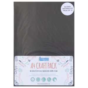 A4 dc fix GLOSSY ANTHRACITE self adhesive vinyl craft pack