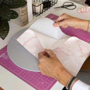A4 dc fix MARBLE PINK self adhesive vinyl craft pack
