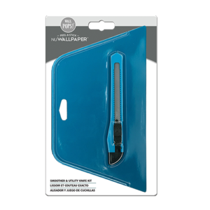 WALLPAPER APPLICATION TOOL KIT includes utility knife & smoother (NU1554)